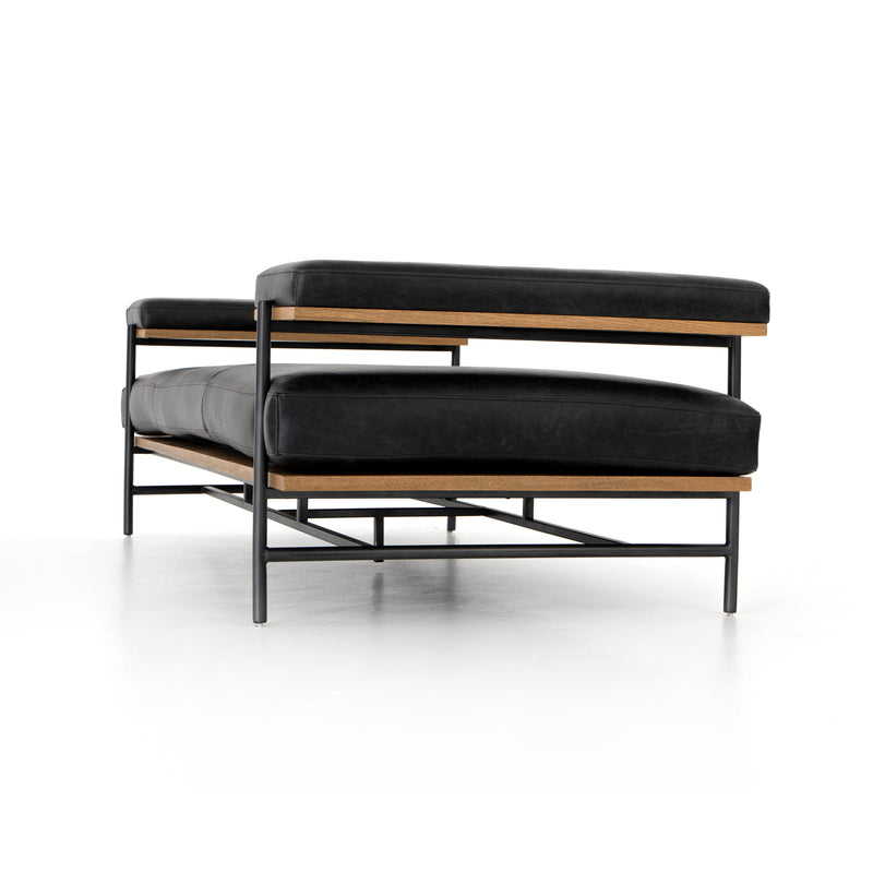 Amatus Chaise Sonoma Black, Toasted Oak, Carbon Black