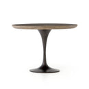 Dimitra Dining Table Dark Rustic Black, Light Burnt Oak 42""