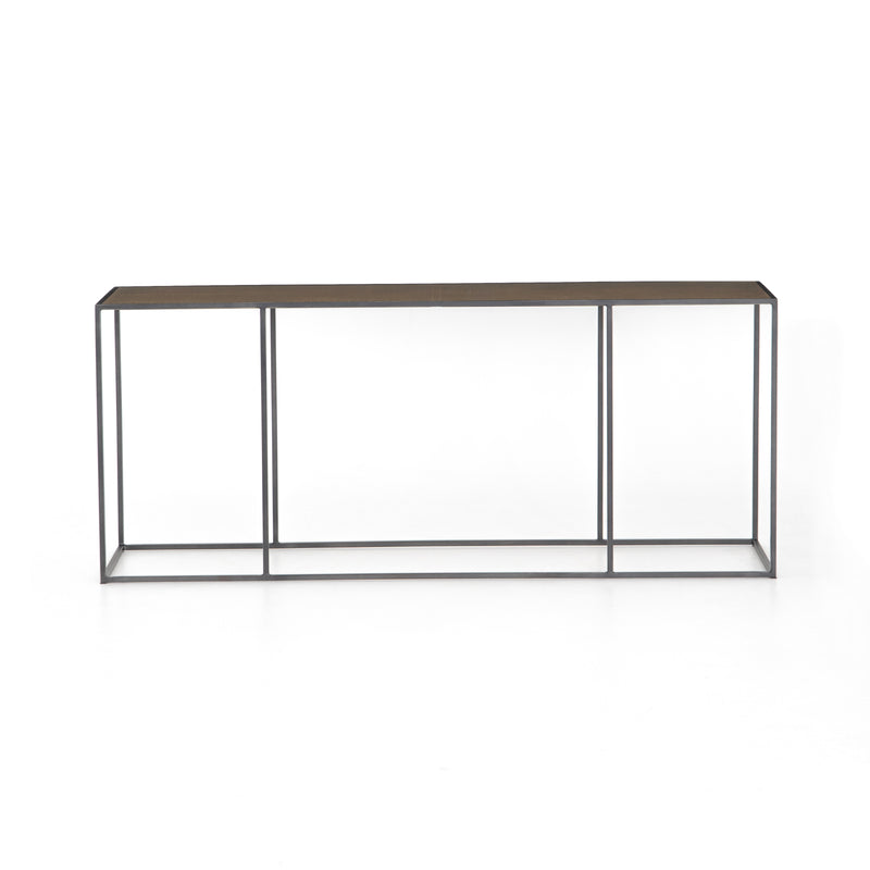 Lavonn Console Dark Antique Bronze, Bright Brass Clad