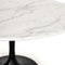 Dimitra Dining Table Dark Rustic Black, Weathered Ash, White Marble 42""
