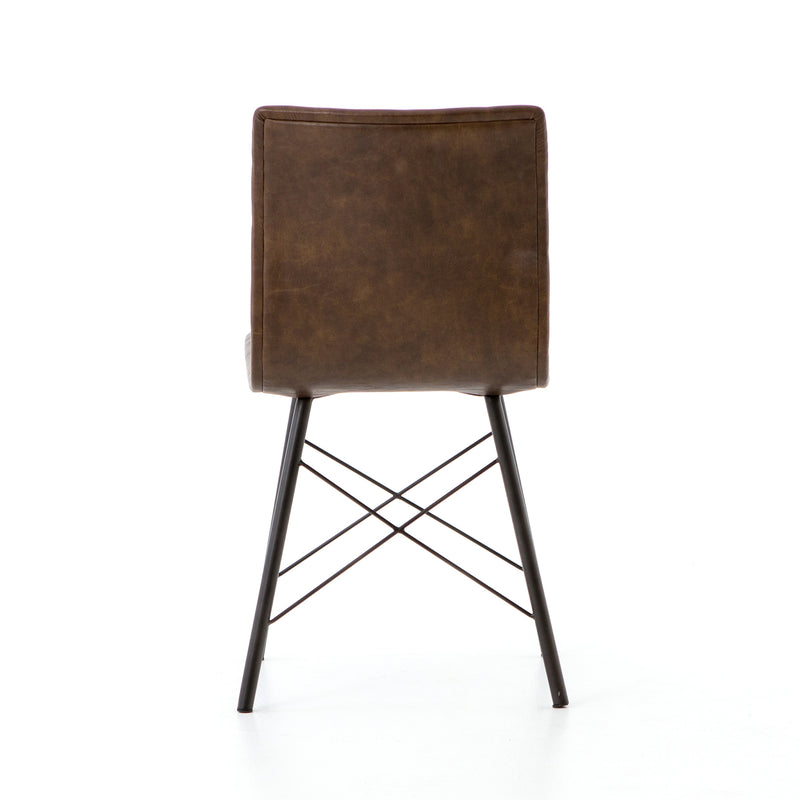 Danai Dining Chair Distressed Brown, Waxed Black