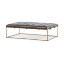 Frasier Coffee Table Rialto Ebony, Antique Brass
