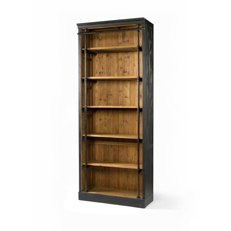 Ioana Bookcase Antique Bleach Sealed, Waxed Black