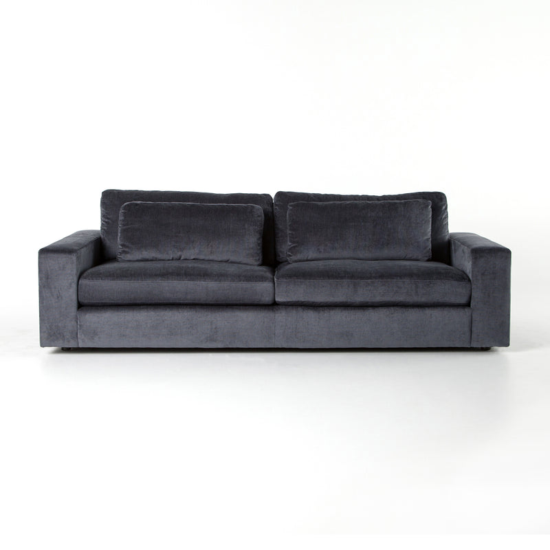 Carlus Sofa Charcoal Worn Velvet
