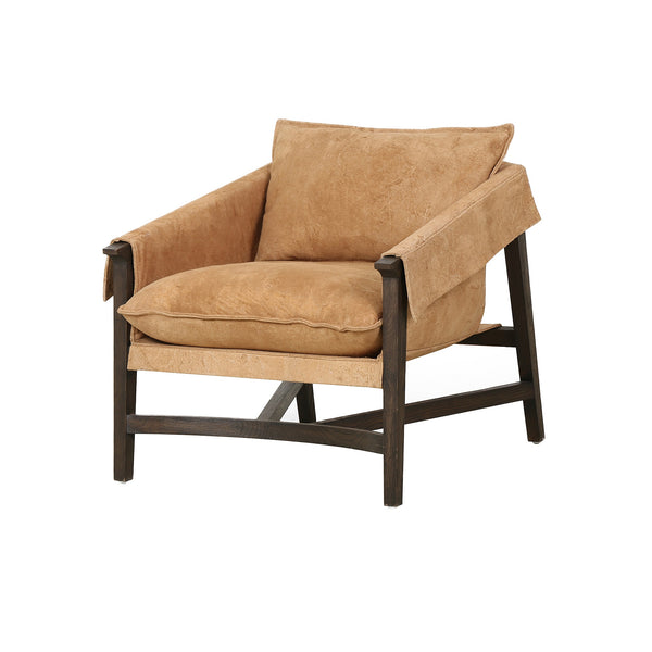 Armand Chair Whistler Chamios, Rubbed Sienna Brown