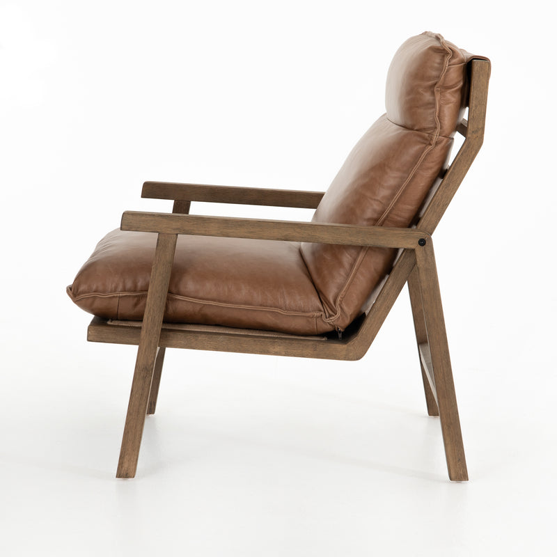 Philippe Chair Chaps Saddle, Distressed Natural