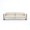 Allison Sofa Thames Cream, Distressed Natural
