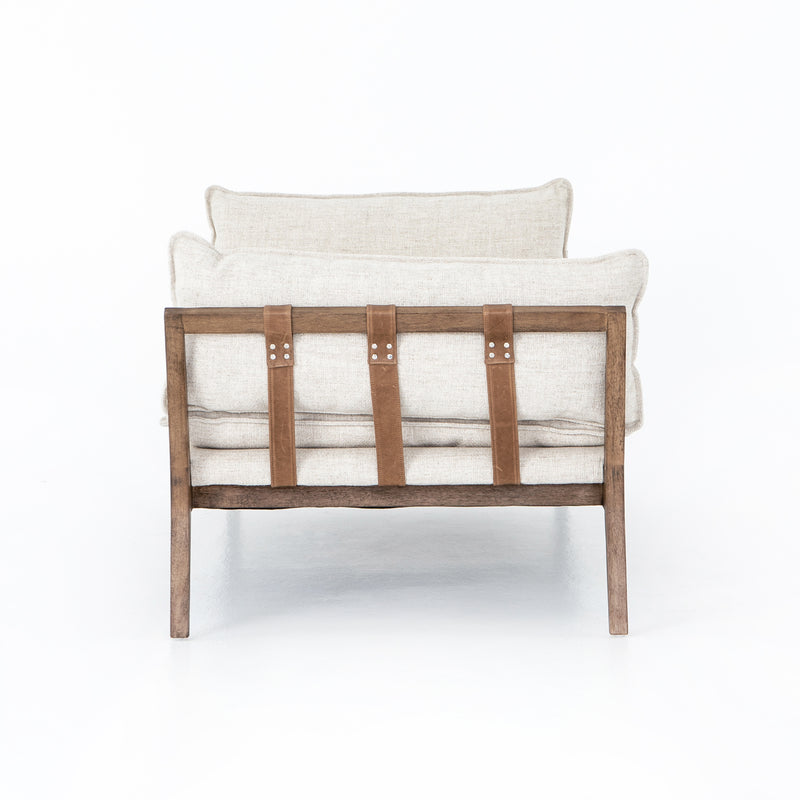 Sidonie Chaise Thames Cream, Distressed Natural, Dakota Warm Taupe
