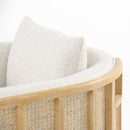 Persis Chair Thames Cream, Natural Oak, Natural Cane