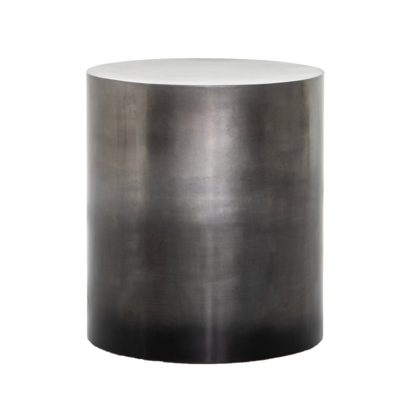 Abundio End Table Ombre Antique Pewter