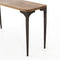 Baldomero Console Table Gunmetal, Light Smoked Oak