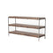 Sampson Media Console Gunmetal, Weathered Hickory