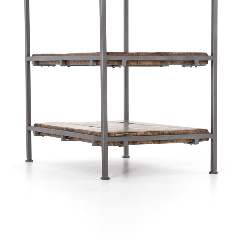 Alcalio End table Gunmetal, Weathered Hickory