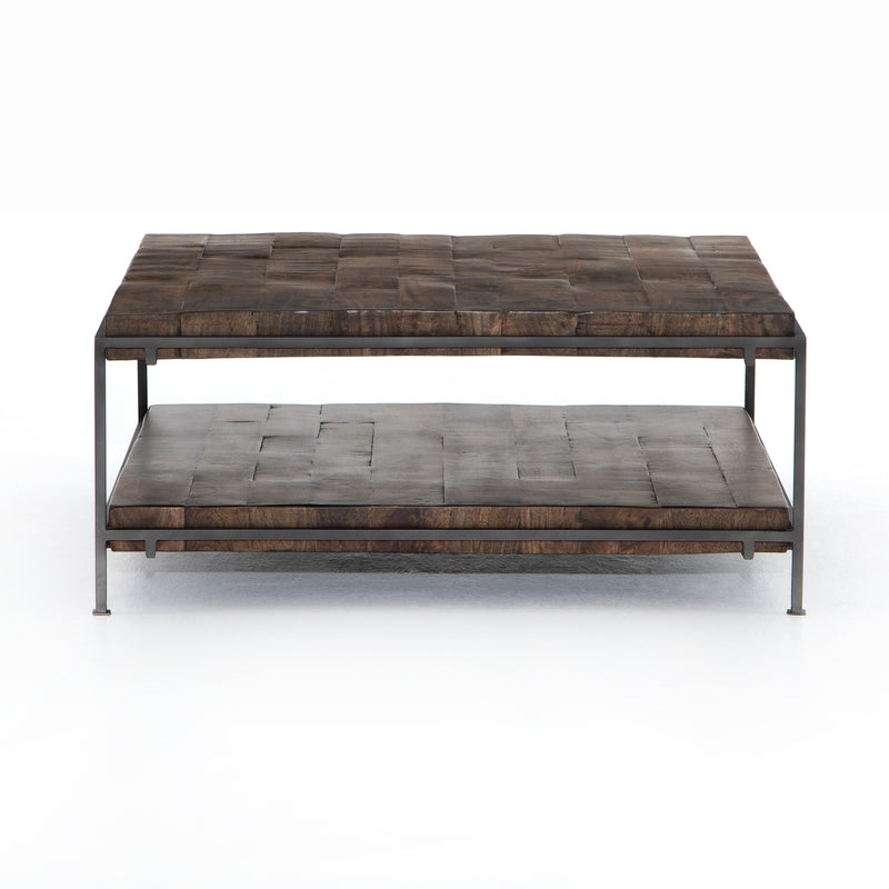 Gracen Coffee Table Gunmetal, Weathered Hickory