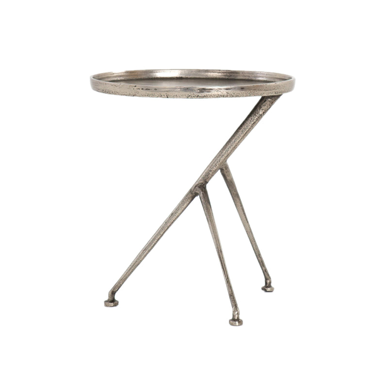 Sirena End Table Raw Antique Nickel