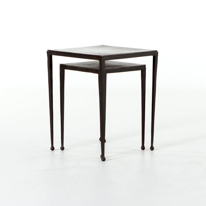 Lianna Nesting End table Antique Brown, Antique Rust
