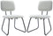 Hallie Side Chair Grey Velvet Set 2