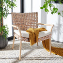Lettie Rattan Accent Chair Natural White Wash/White