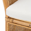 Lynn Rattan Accent Chair with Cushion Honey Brown Wash/White