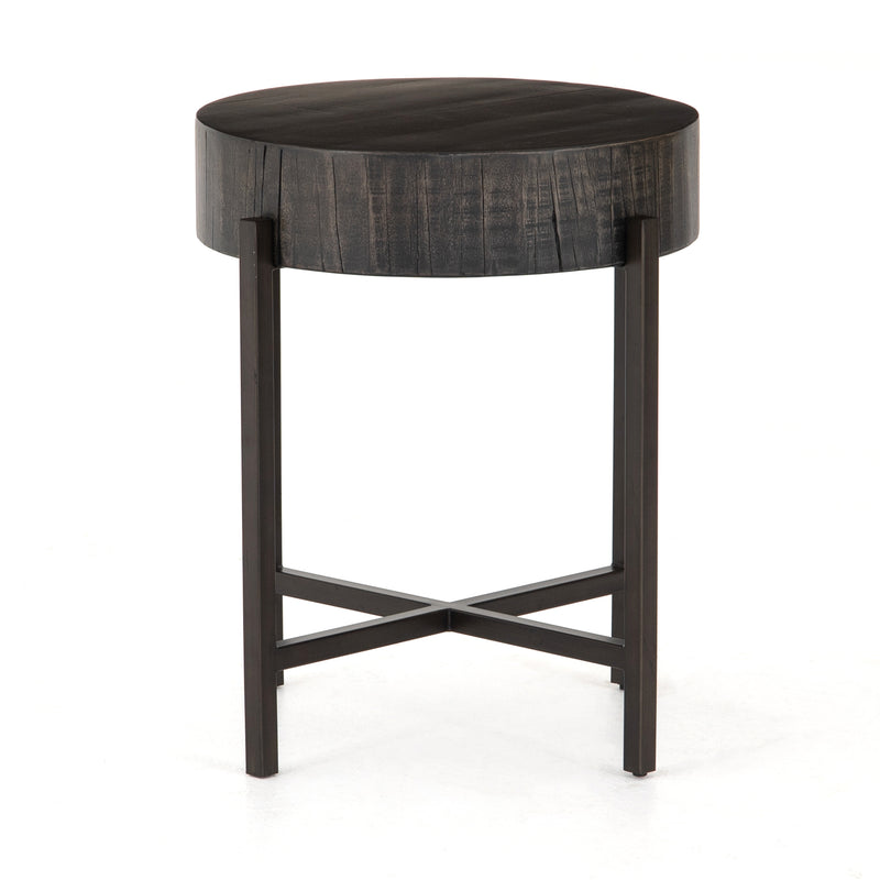 Xaviera End Table Copper Patina, Distressed Grey