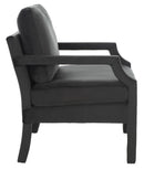 Jillian Upholstered Arm Chair Black Velvet