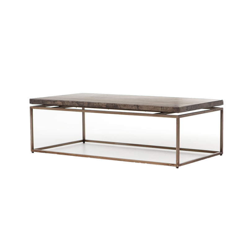 Jaime Coffee Table Oxidized Bronze, Oxidized Iron