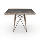 Sukie Dining Table Oxidized Bronze, Oxidized Iron 84""