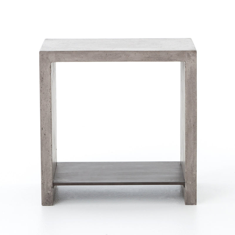 Stillman End Table Dark Grey, Antique Black Metal