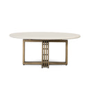 Hadda Coffee Table Antique Brass, Parchment White