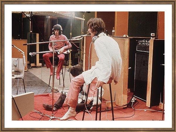 Mick Jagger of the Rolling Stones recording their hit 'Sympathy For The Devil'