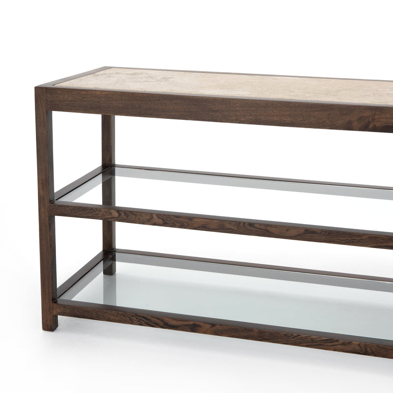 Callie Media Console Cocoa Oak