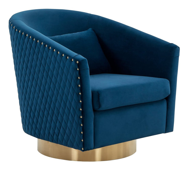 Baylee Quilted Swivel Tub Chair Navy