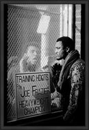 Ali Taunts taunts Joe Frazier Framed Print