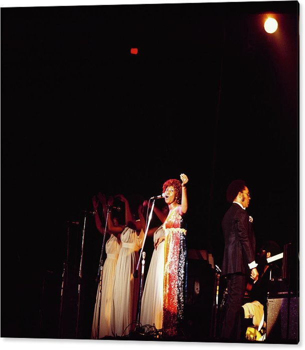 Aretha Franklin Performs At Newport Acrylic Print