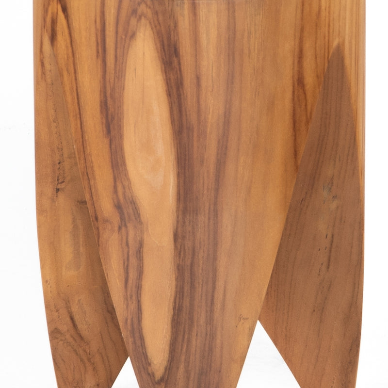 Ancel Outdoor End Table Natural Teak