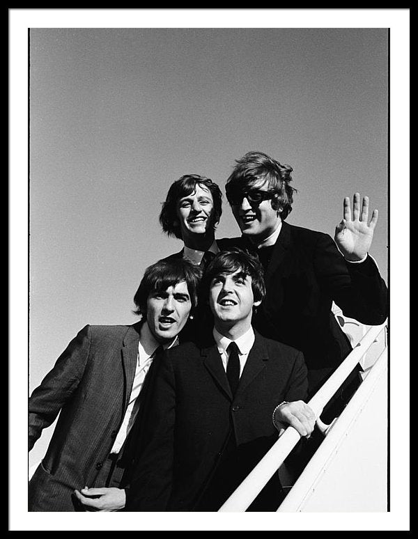The 'Beatles' arriving at Los Angeles airport on 2nd US tour