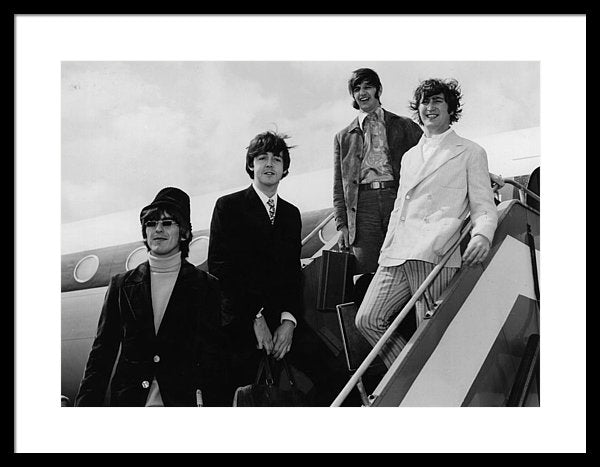The Beatles At Airport Framed Print