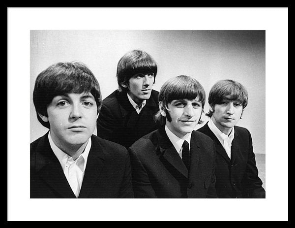 Portrait of British pop group The Beatles BBC Television Studios
