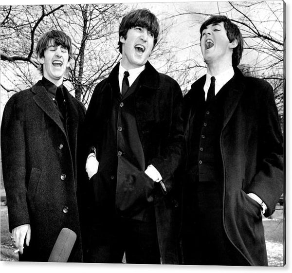 The Beatles in Central Park, Ringo Starr, John Lennon and Paul McCartney Acrylic Print
