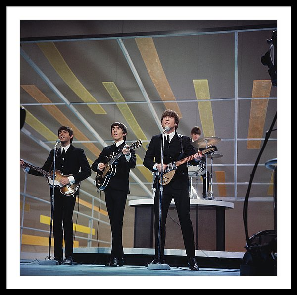 The Beatles, performing on the Ed Sullivan Show, New York City
