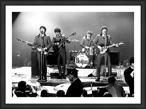 The Beatles in performance at the Washington Coliseum