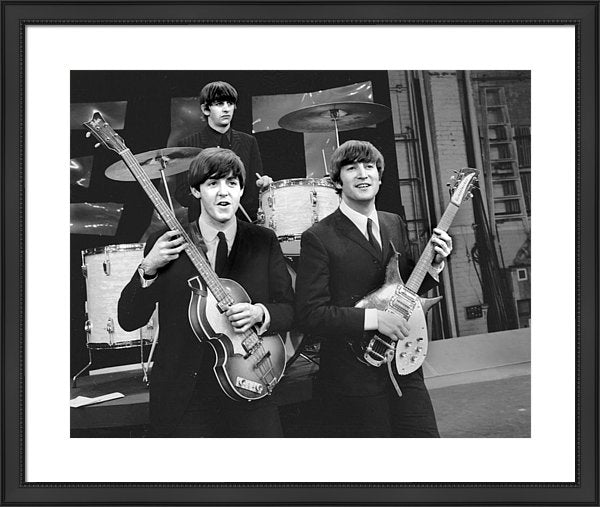 Beatles Rear Ringo Starr Front, L. To Framed Print