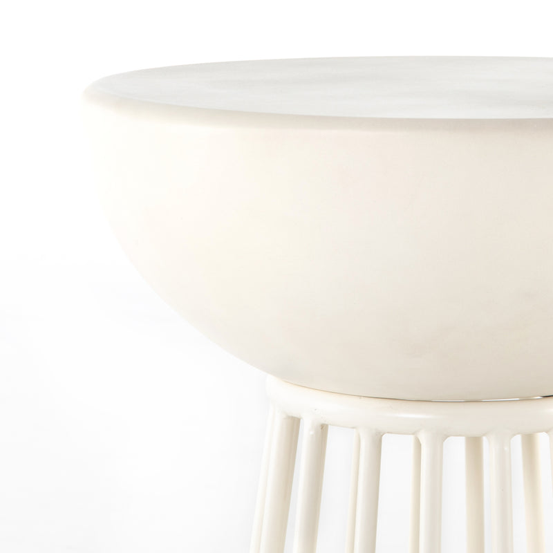 Serenity End Table White Concrete
