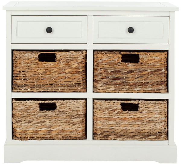 Mitzy Storage Unit Distressed Cream