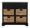 Mitzy Storage Unit Distressed Black