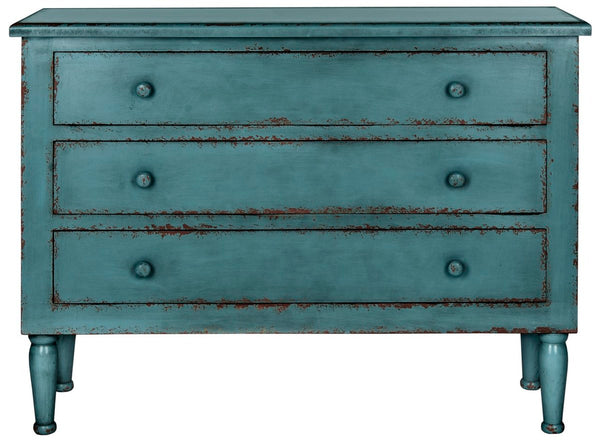 Beth Storage Chest Distressed Blue
