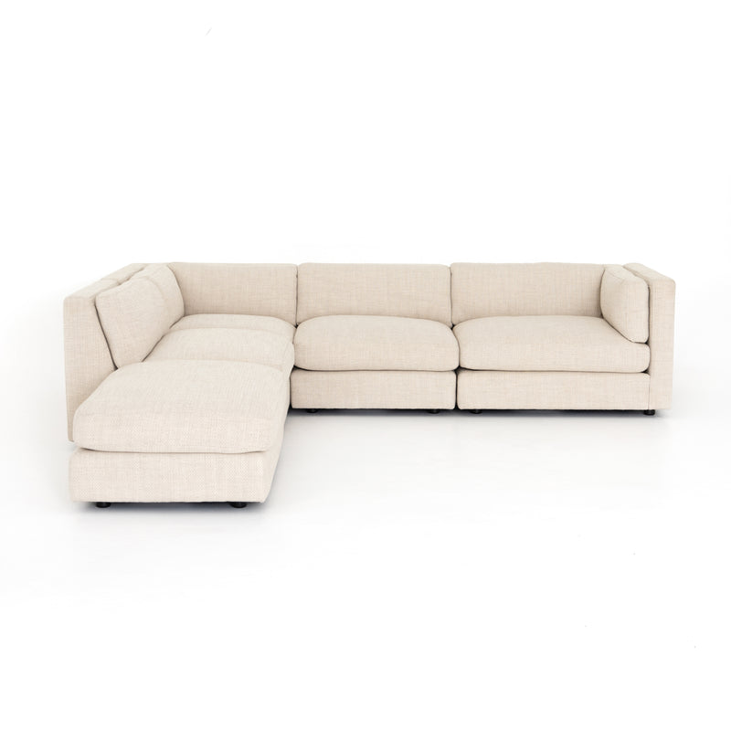 Gloriana 4 Piece Sectional w/Ottoman Right Arm Facing