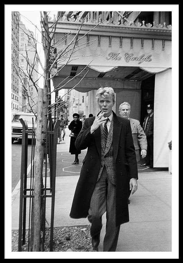 David Bowie Madison Avenue, New York, 27th January 1983 Framed Print