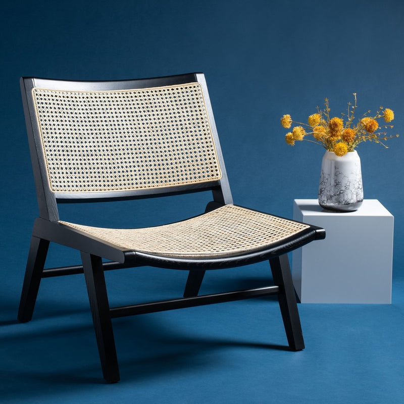 Talbot Rattan Accent Chair Black / Natural