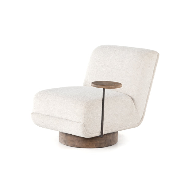 Ivanka Swivel Chair And Table Knoll Natural
